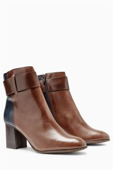 Signature Leather Strap Boots
