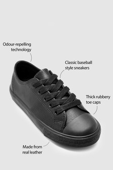 Lace-Up Leather Sneakers (Older)