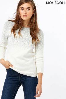 Monsoon Multi Fliss Fairisle Pattern Jumper