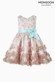 Monsoon Pink Sienna Flower Cascade Dress