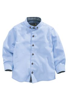 Blue Long Sleeve Shirt (3mths-6yrs)