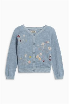 Delicate Embroidered Cardigan (3mths-6yrs)