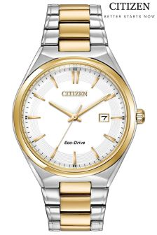 Gold Citizen Eco Drive® Mens WR100 Watch
