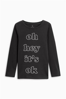 Long Sleeve Graphic Top (3-16yrs)