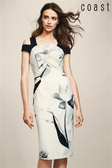 Coast Mono Muscari Printed Shift Dress