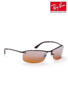 Brown Ray-Ban® Semi Rimless Sunglasses