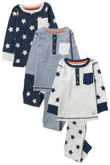 Star Pyjamas Three Pack (9mths-8yrs)