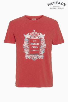 Fat Face Vintage Peach Beach Club Graphic Tee