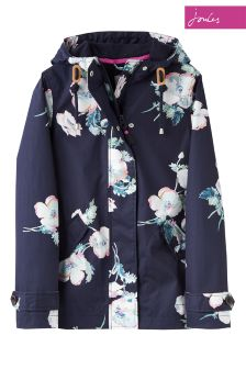 Joules Navy Hooded Coast Print Jacket