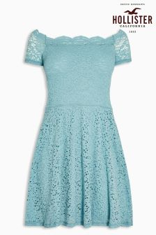 Hollister Blue Lace Dress