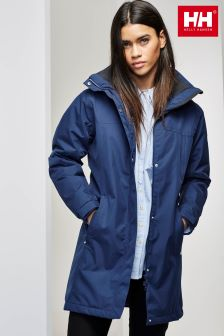 Helly Hansen Navy Aden Long Insulated Jacket