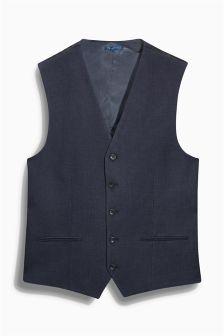Navy Birdseye Suit: Waistcoat