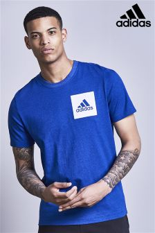 adidas Royal Blue Box Logo T-Shirt