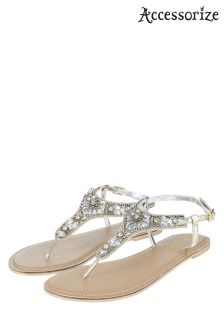 Accessorize Metalic Anna Embellished Sandal