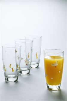 Set Of 4 Duck Tumblers
