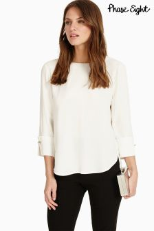Phase Eight Ivory Bettie Cuff Detail Blouse