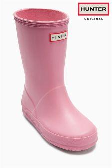 Pink Hunter First Gloss Wellington Boot