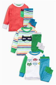 Hero Pyjamas Three Pack (9mths-8yrs)