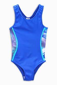 Panelled Sport Swimsuit (3-16yrs)