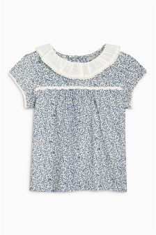 Ditsy Frill Neck T-Shirt (3mths-6yrs)