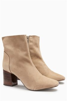 Signature Unlined Ankle Boots