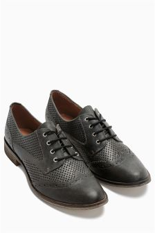 Leather Perforated Lace Ups