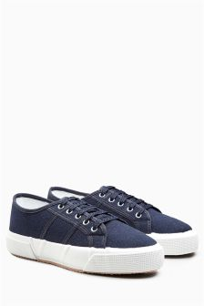 Chunky Canvas Lace-Up