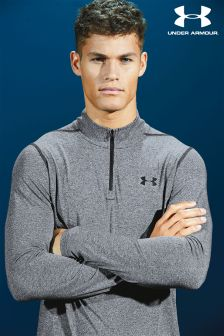 Under Armour Grey/Black Threadborne 1/4 Zip Top