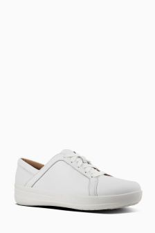 FitFlop™ Urban White Leather F-Sporty II™ Lace-Up Sneaker