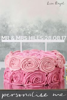 Personalised Mr And Mrs Cake Topper By Lisa Angel
