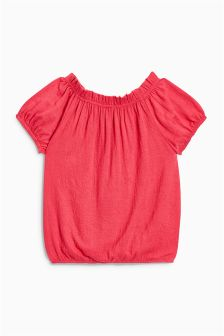 Crinkle Fabric Short Sleeve Top (3-16yrs)