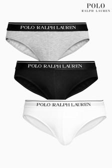 Polo Ralph Lauren White/Black/Grey Brief Three Pack