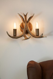 Antler 2 Light Wall Light