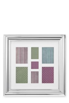 7 Aperture Silver Metallic Effect Collage Frame