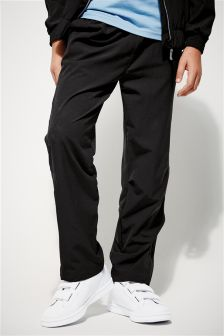 Black Woven Mesh Track Trousers (3-16yrs)