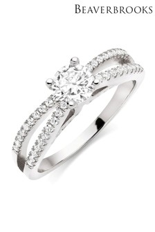 Beaverbrooks Silver Cubic Zirconia Ring
