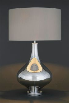 Kendra Smoked Plated Glass Table Lamp
