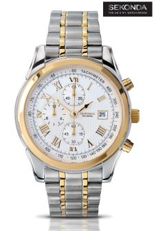 Sekonda Two Tone Multi Watch