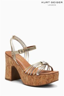 Kurt Geiger London Multi Metallic Mistie Cork Platform Sandal