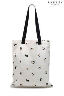 Radley White All That Glitters Medium Tote Bag