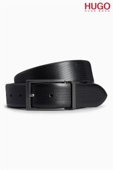 Hugo Tailoring Black Leather Ellroy Belt