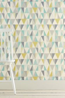 Textured geo wallpaper for Next living room wallpaper