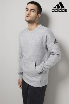 adidas Grey Stadium Long Sleeve Crew