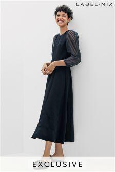 Mix/Rejina Pyo Organza Sleeve Midi Dress