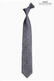 Signature Made in England Silk Pattern Tie