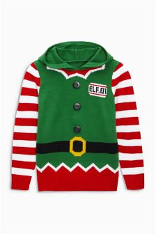 Elf Christmas Hoody (3-16yrs)