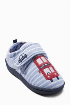 Stripe Bus Slippers (Younger Boys)