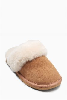 Shearling Mule Slippers (Older Girls)