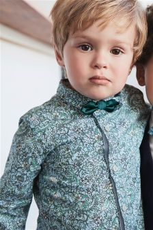 Floral Print Shirt With Bow Tie (3mths-6yrs)