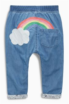 Rainbow Pull-On Jeans (3mths-6yrs)